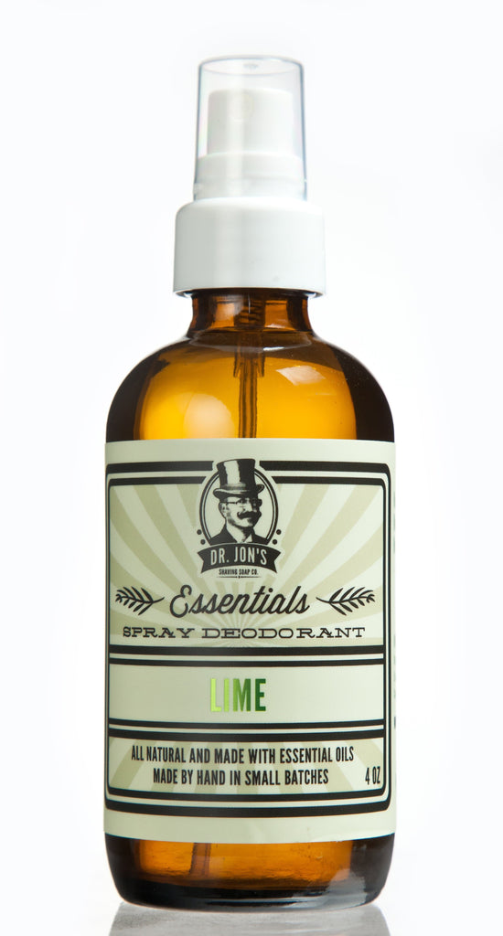 Dr. Jon's Essentials Natural Vegan Deodorant Spray - Lime