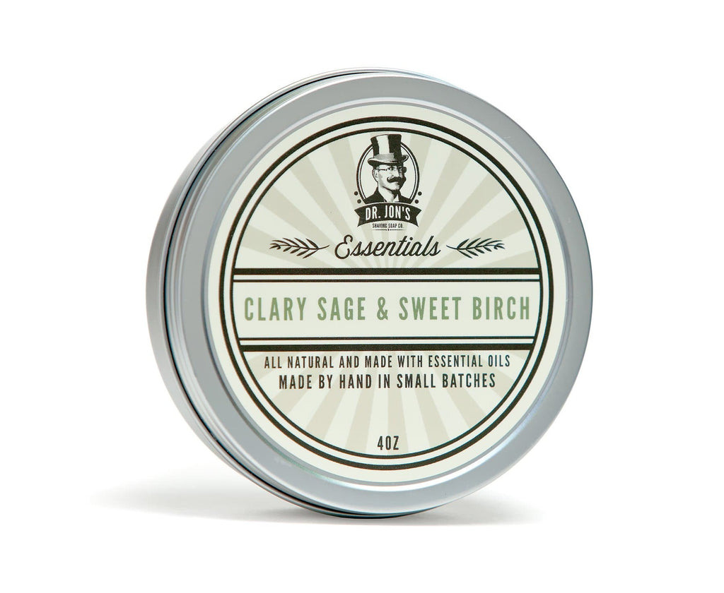 Dr. Jon's Essentials Clary Sage & Sweet Birch Shaving Soap