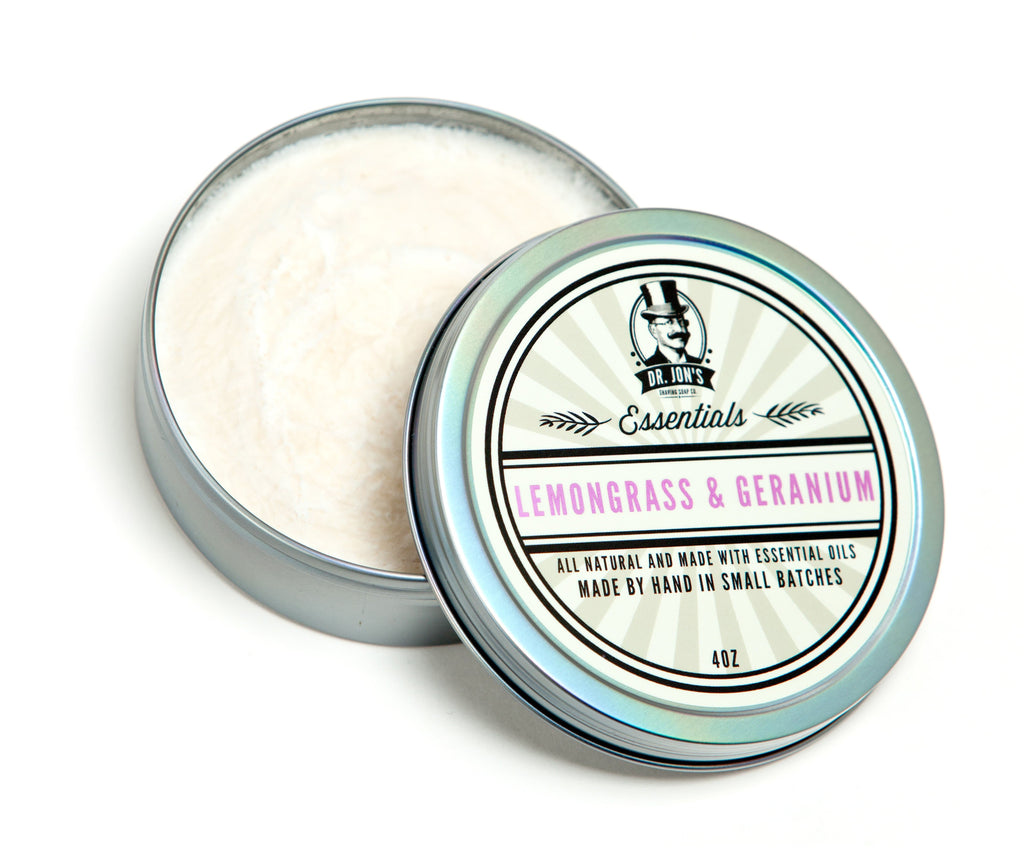 Dr. Jon's Essentials Lemongrass & Geranium Shaving Soap