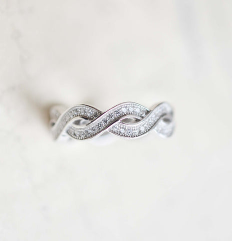 Sterling Silver Infinity Ring - Infinity Knot Ring - Best Friends Infinity Ring - Stacking Ring - Promise Ring - Infinity Wedding Band