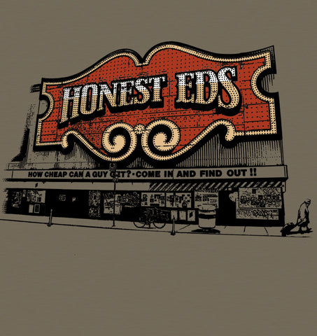 Honest Ed's (olive green)