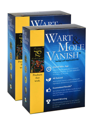 Wart Mole Vanish Twin Pack (Removes 4-10 Large Growths or 10-50 Smaller Ones)