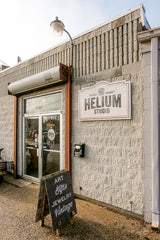 Parking Lot entrance to Helium Studio