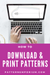 how to download & print pdf sewing patterns