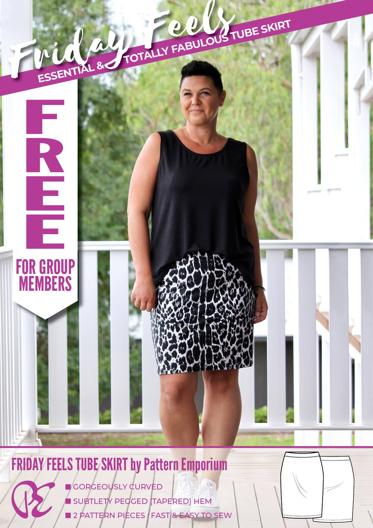 Make It For Free : Friday Feels Tube Skirt