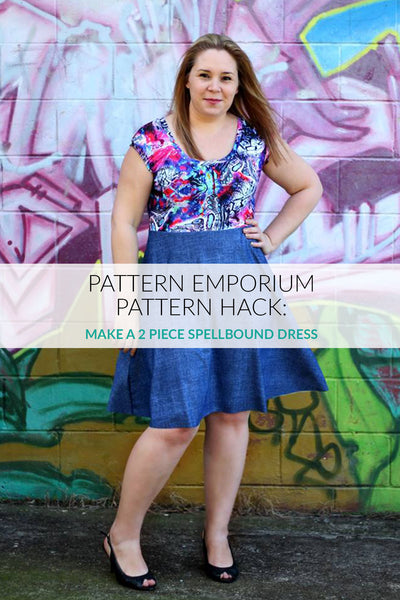 Pattern Hack: Make a 2-piece Spellbound Dress