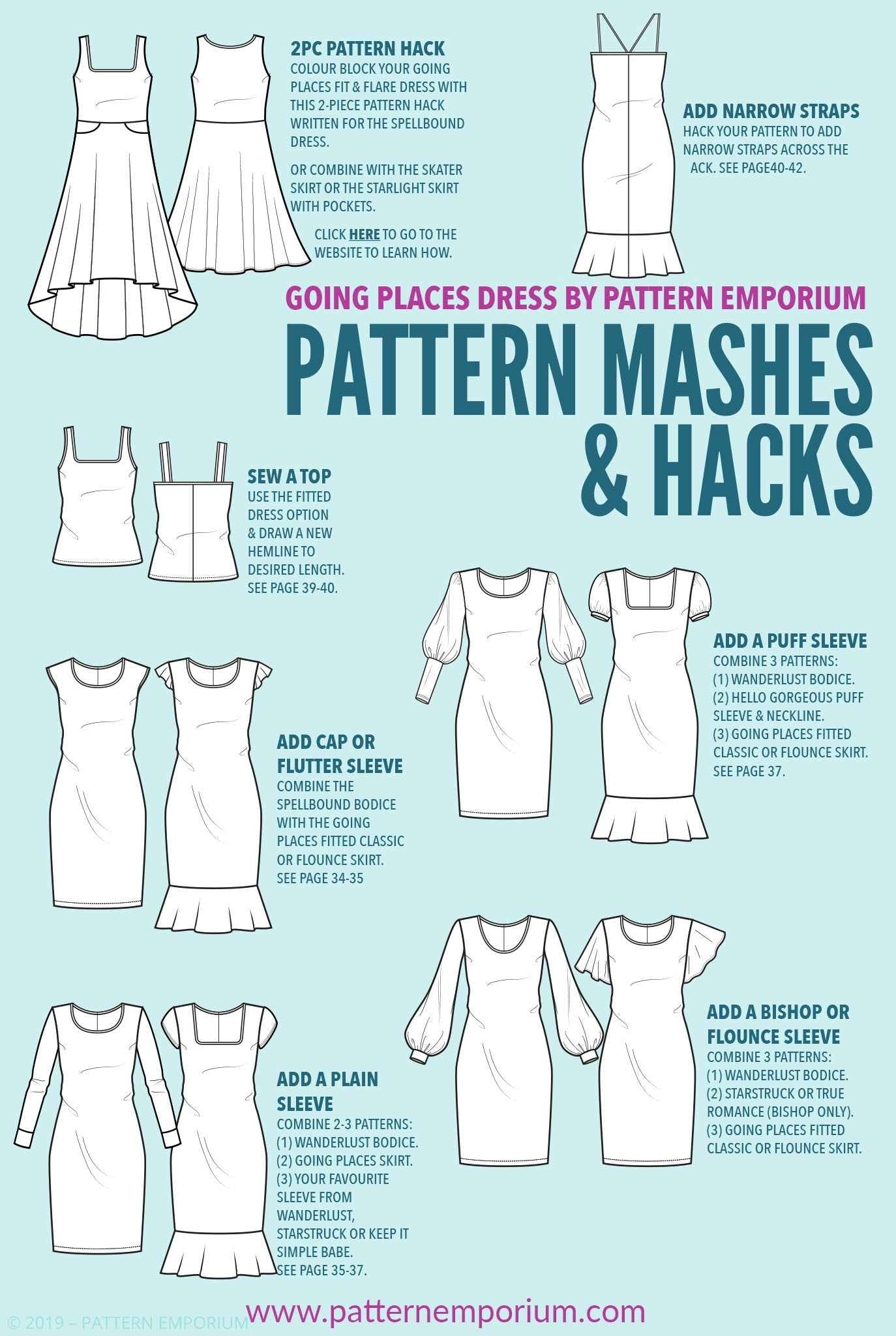 Pattern Mashing: Going Places Dress