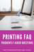 PDF pattern printing frequently asked questions