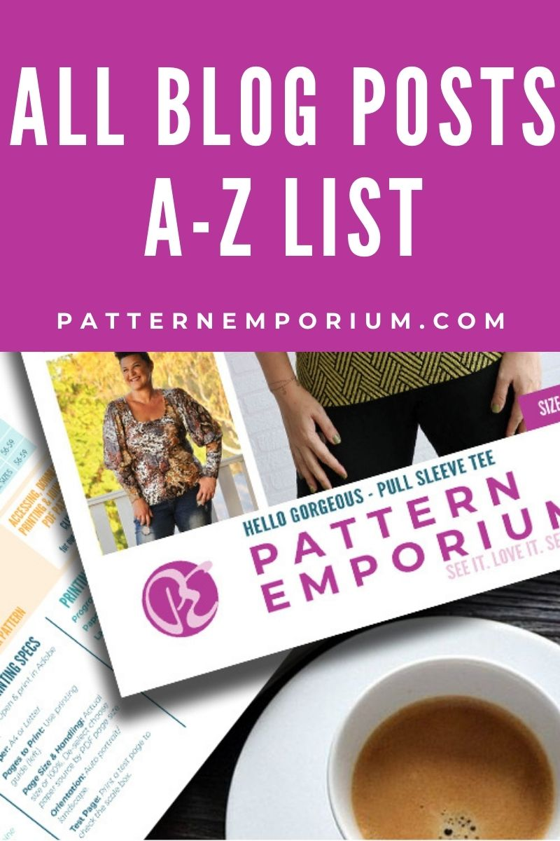 Everything! All our blog posts in one beautiful A-Z list.
