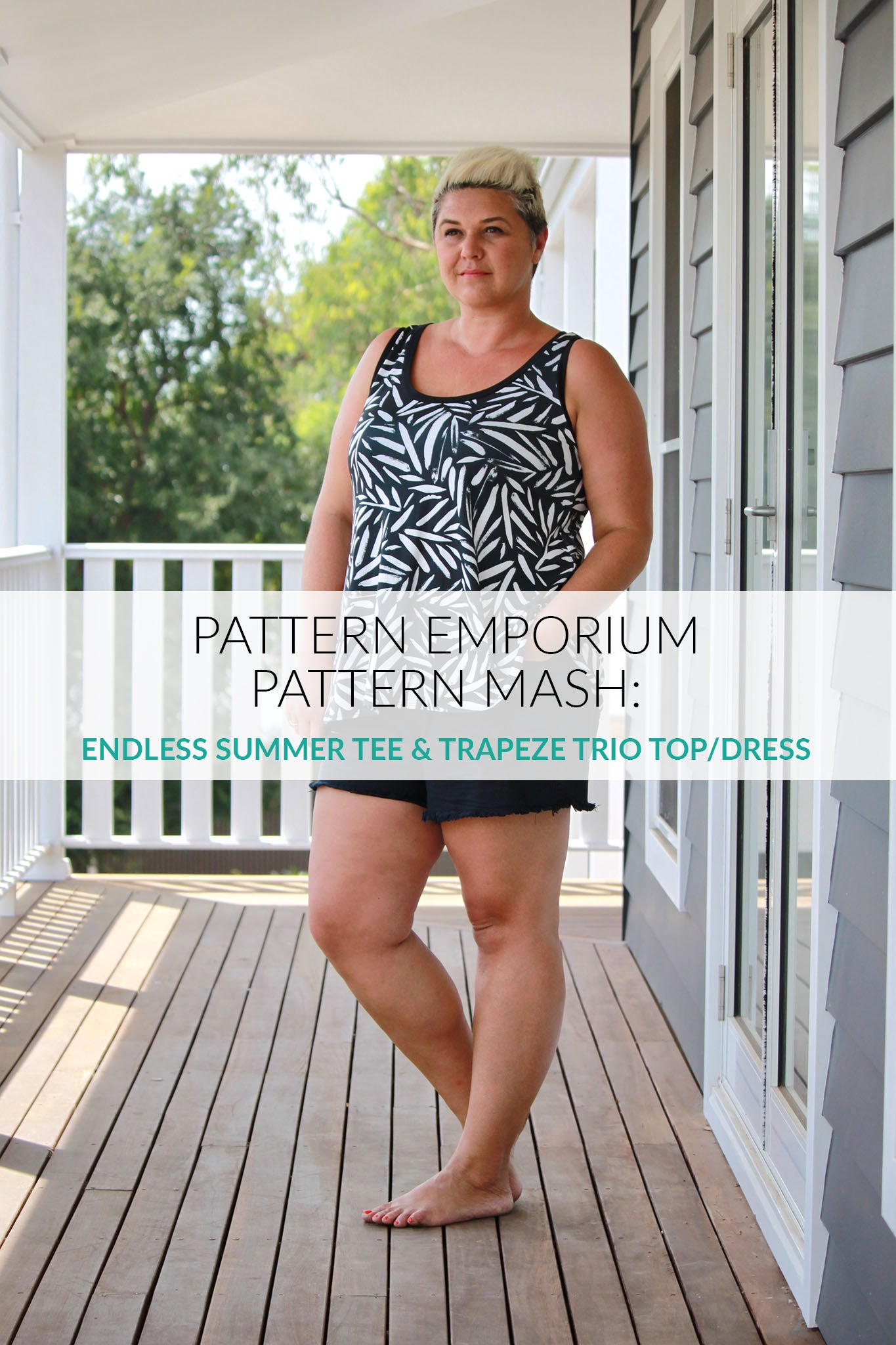 pattern mash: sew a ladies summer trapeze top or dress