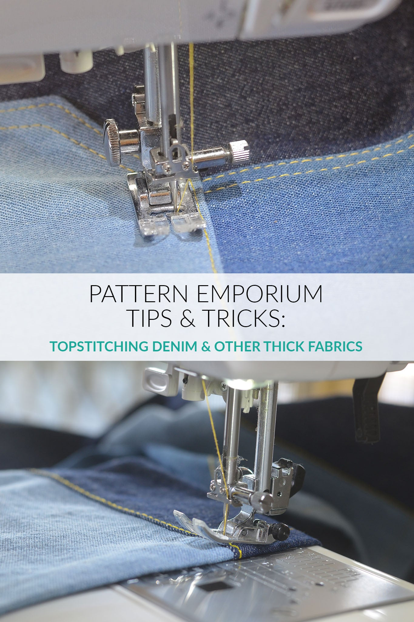 Topstitching Tips