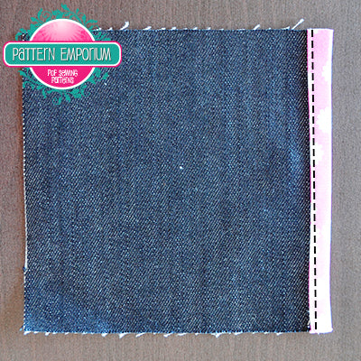 sewing on binding by Pattern Emporium