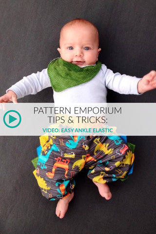 sewing ankle elastic baby harem pants - video