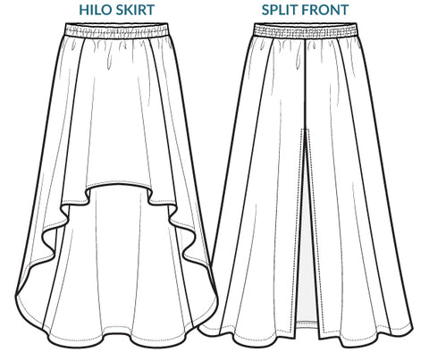 Free Spirit Skirt - hilo & split front styles - sewing pattern