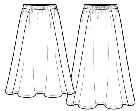 Midi & maxi skirts sewing pattern