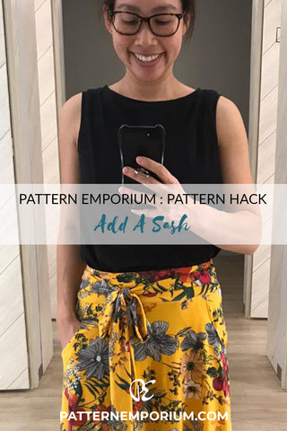 Pattern Hack: Add a Sash to the Heartlight Skirt