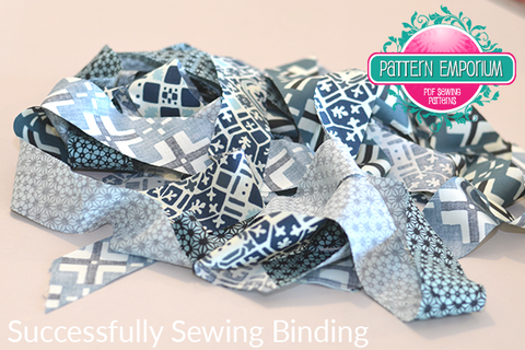 How to sew on binding by Pattern Emporium sewing patterns