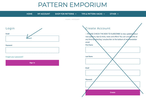 HOW TO Access, download & print your PDF sewing patterns