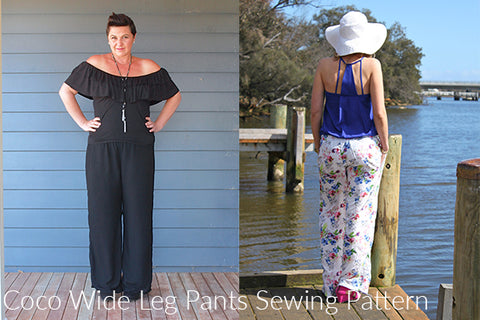 Styling Your Wide Leg Pants : Coco Wide Legs Pants Sewing Pattern ...