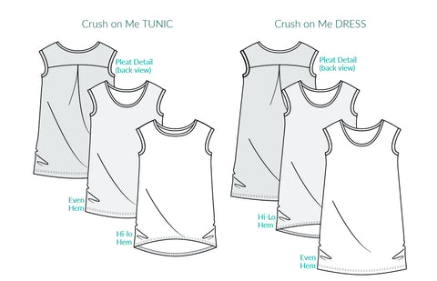 Crush On Me Oversize Tee Dress Hilo Sewing Pattern Emporium