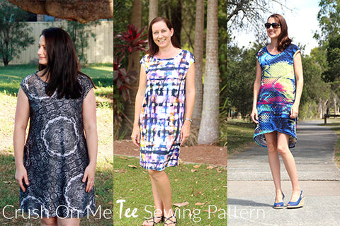 Pattern Emporium Knit Dress. Crush on Me Tee Dress sewing pattern.