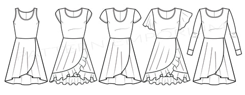 Follow Me Wrap Dress Sewing Pattern