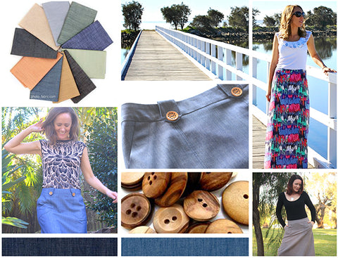 Pattern Emporium Mood Board A-line Skirt sewing pattern