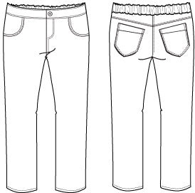 Girls jeans sewing pattern