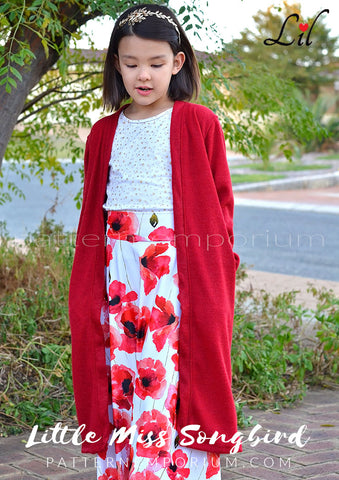 Girls Kimono with pockets - sewing pattern by Pattern Emporium