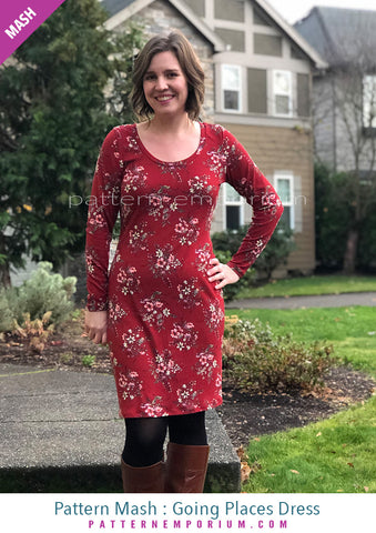 Sew a fitted dress with long sleeves Pattern Emporium