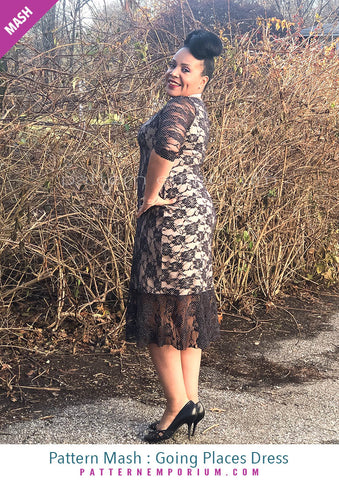 Sew a lace fitted dress with flounce Pattern Emporium