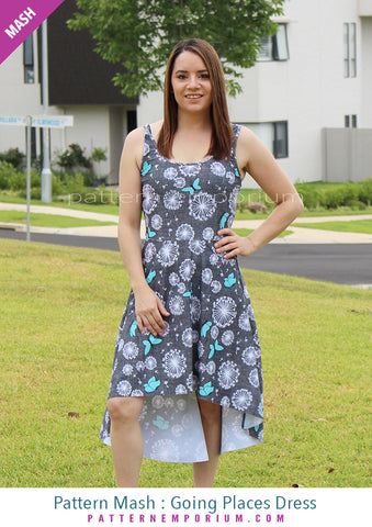 Sew a 2 piece hilo dress with straps Pattern Emporium