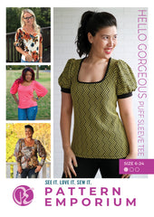 Sew a short or long puff sleeve tee by Pattern Emporium