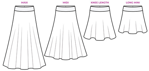 Pattern Emporium Heartlight Knit Skirt drawings sewing