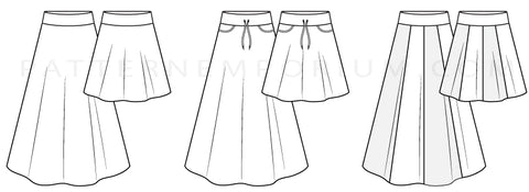 Girls Little Miss Heartlight skirt stretch sewing pattern
