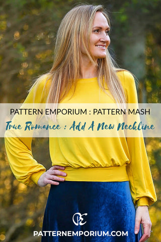 Pattern Hack : Add a Different Neckline Bishop Sleeve Top