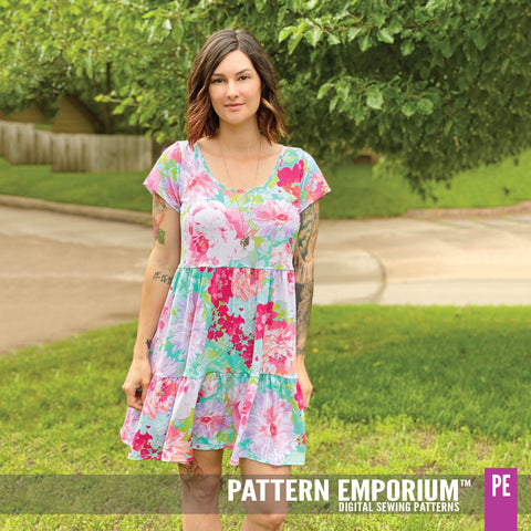 Tiered dress sewing pattern by Pattern Emporium - Every Day's A Weekend