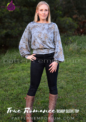 Bishop Sleeve Top sewing pattern by Pattern Emporium