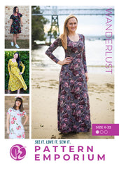 Wanderlust Fit & Flare Dress by Pattern Emporium