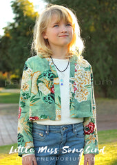 Sew a girls kimono or cardigan Songbird by Pattern Emporium