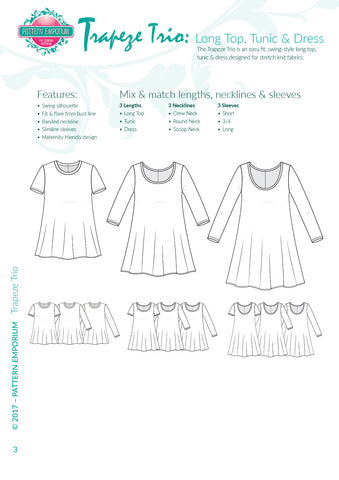 sew a trapeze top or dress - Pattern Emporium
