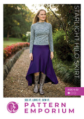 Sew a hilo skirt with pockets & yoga waistband - Starlight by Pattern Emporium