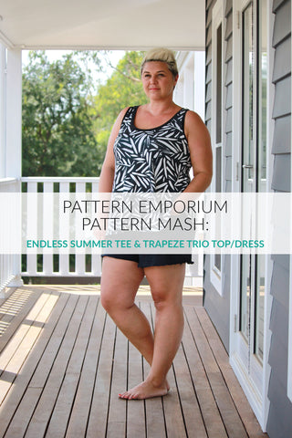 Pattern mash: sew a ladies summer swing trapeze top