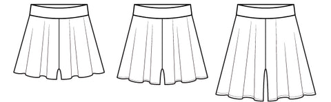 Sashay Shorts PDF Sewing Pattern - Flared Shorts Swim - Pattern Emporium
