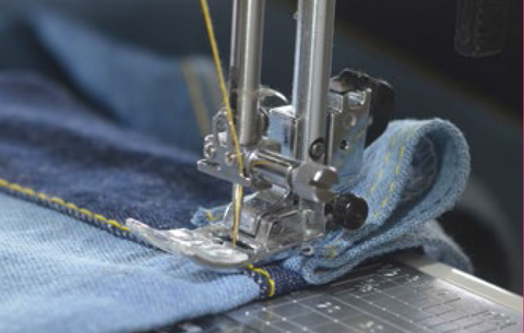 Tips for sewing with denim & thick fabrics. Make a bumper.