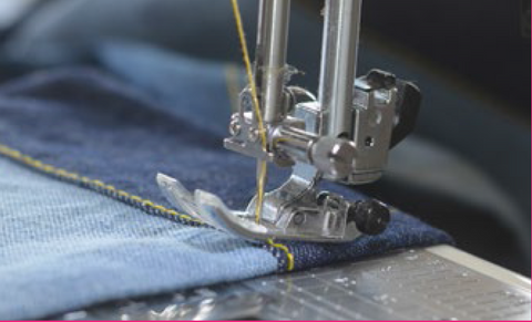 Tips on sewing with Denim Fabric. Adding a bumper.