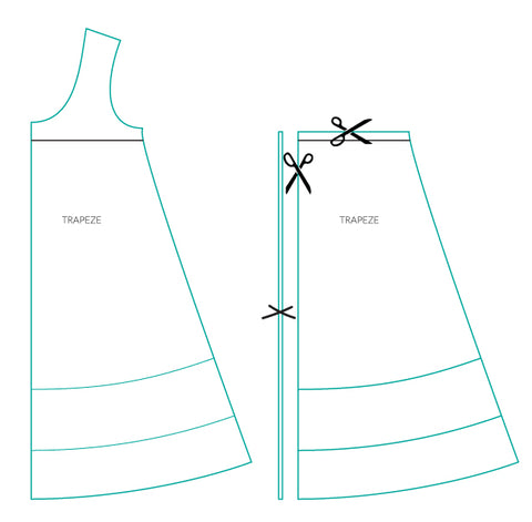 sew a sleeveless trapeze top or dress pattern mash