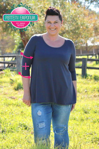 how to do a sleeve & wrist bicep adjustment - sewing pattern adjustments