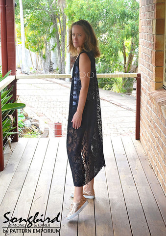 Lace Sleeveless Kimono - Songbird sewing pattern