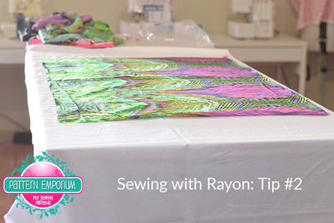 Sewing with Rayon and silk. Tips. Laying a sheet. Pattern Emporium sewing patterns
